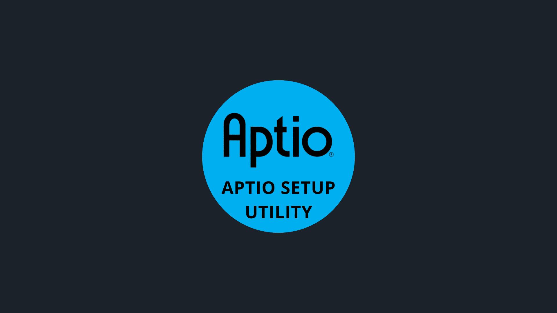 Aptio Setup Utility