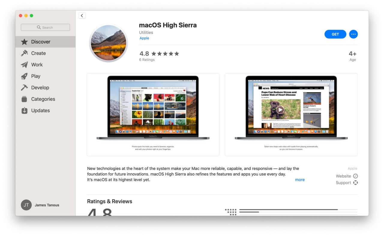 Changes to the apps in High Sierra