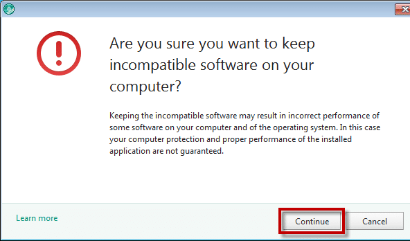 Computer Is Incompatible with the Operating System