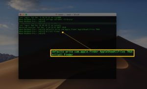 See Hidden Files With Terminal