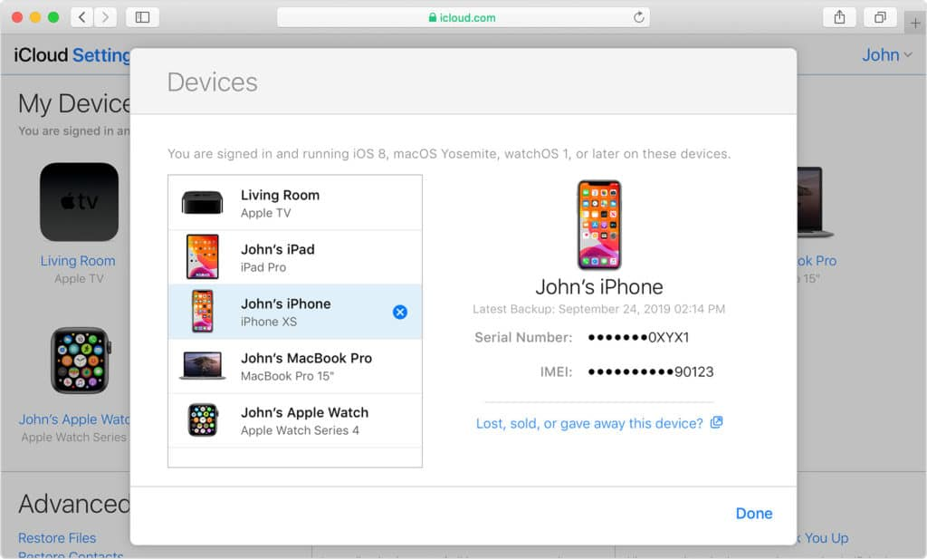 iCloud to Find Your Missing Devices