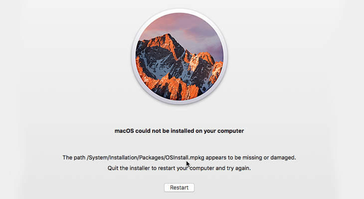 macOS Could Not Be Installed on Your Computer