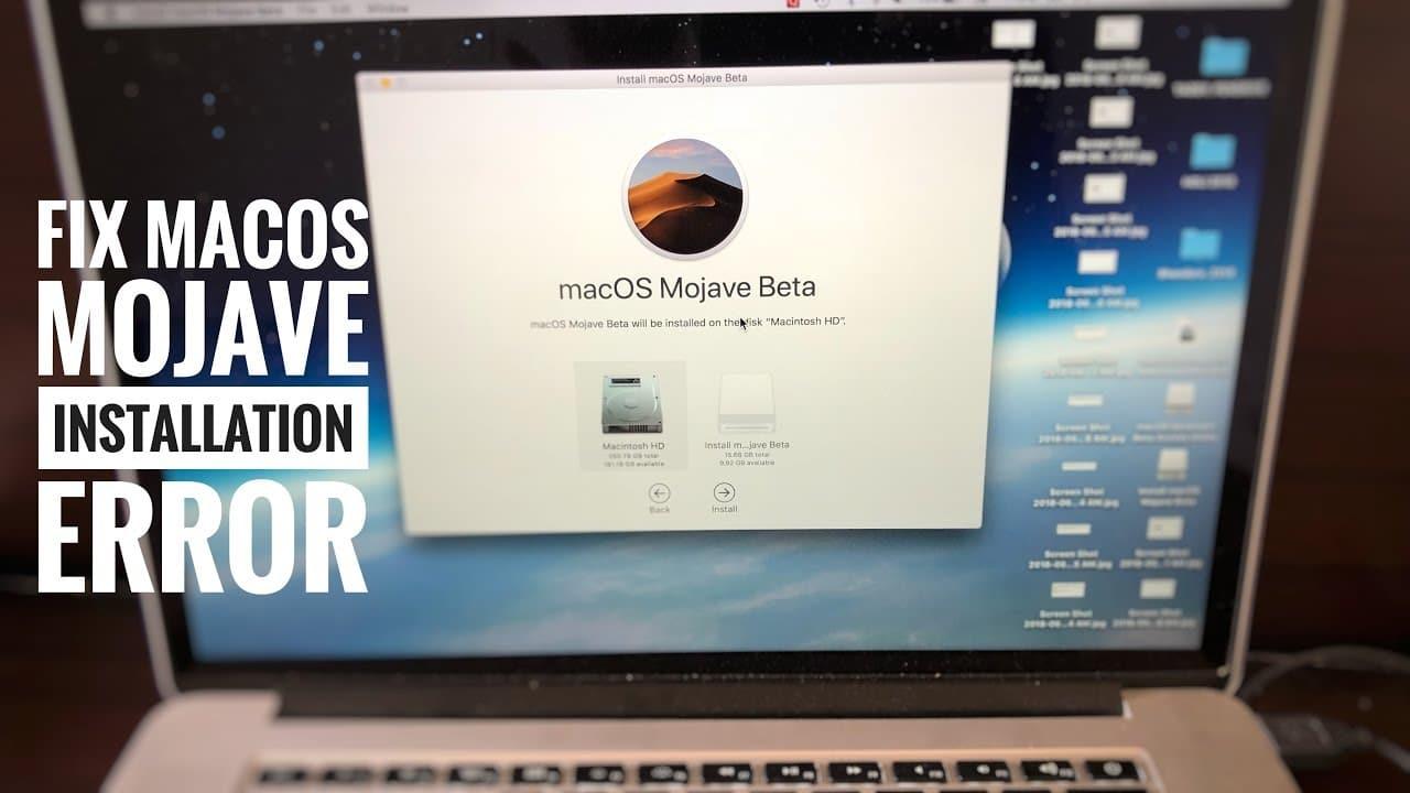 macOS Mojave Install Problems
