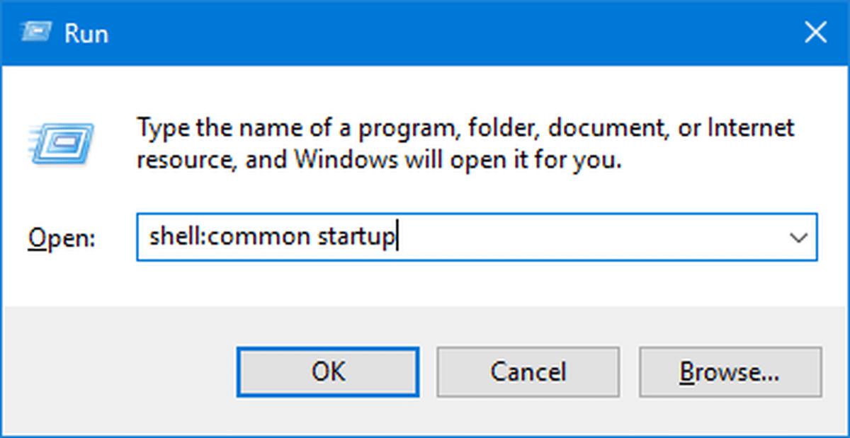 Access the Windows 10 Startup Folder