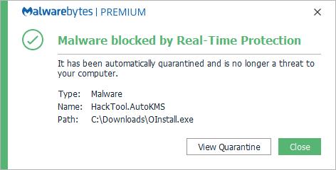 Malwarebytes Free to Remove this AutoKMS Virus