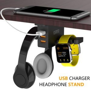 Cozoo PC Gaming Headphone Stand with Charger