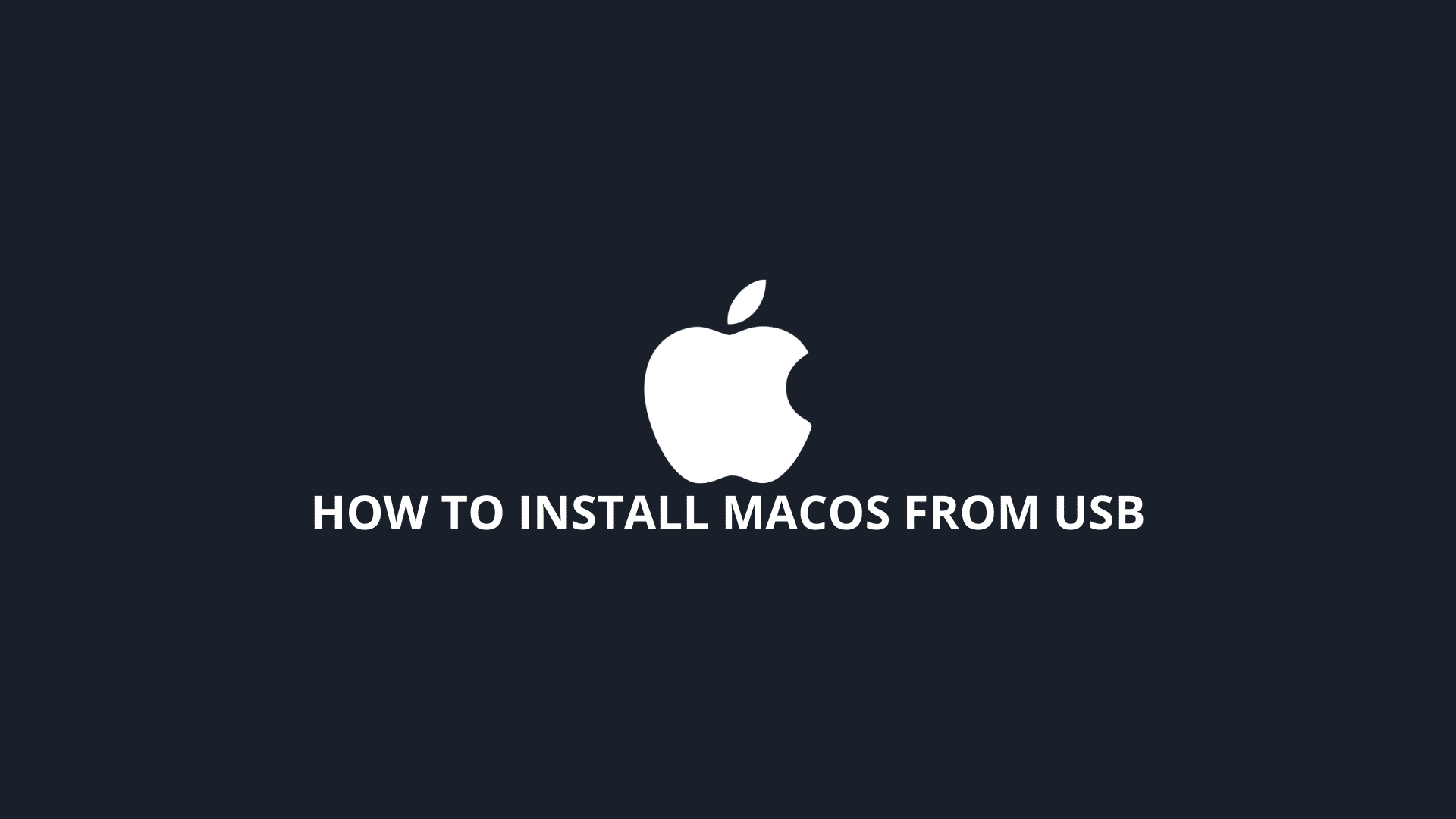 how to install macos from usb