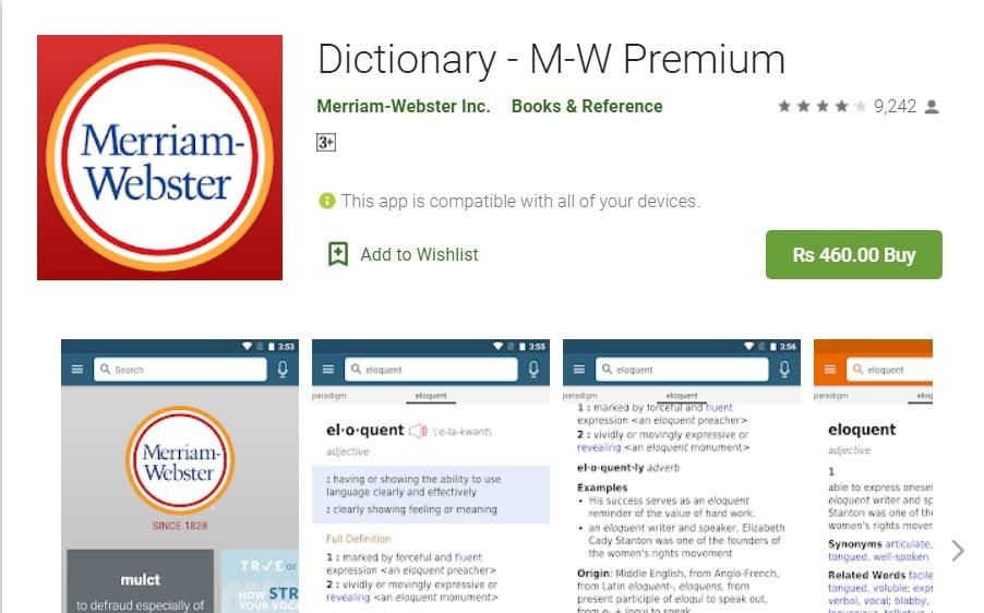 Dictionary – M – W Premium