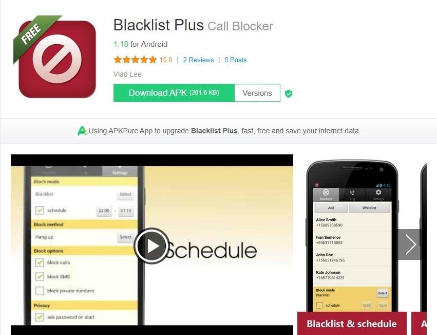 Blacklist Plus - Call Blocker