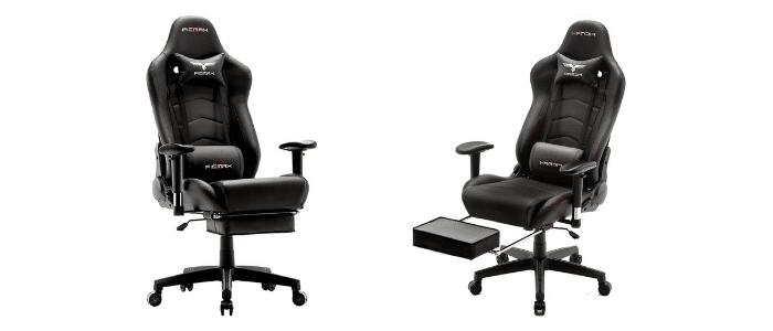 Ficmax Gaming Chair with Footrest