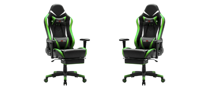 Ficmax Green high back Gaming chair