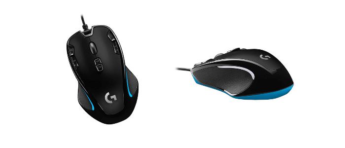 Logitech G300s Optical Ambidextrous Ultralight Gaming Mice