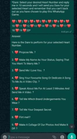 To play games whatsapp 5 WhatsApp